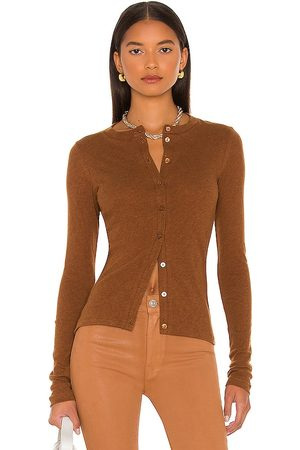 ENZA COSTA Cashmere Fitted Cardigan in . Size XS, S, M, XL.