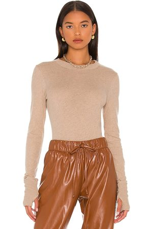 ENZA COSTA Cashmere Easy Cuffed Crew in . Size XS, S, M, XL.