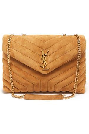 Saint Laurent Damen Geldbörsen & Etuis - Loulou Medium Quilted Suede Shoulder Bag