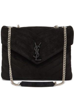 Saint Laurent Damen Geldbörsen & Etuis - Loulou Medium Quilted-suede Shoulder Bag