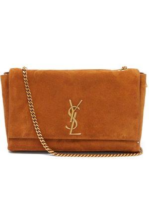 Saint Laurent Damen Geldbörsen & Etuis - Kate Reversible Suede And Leather Shoulder Bag