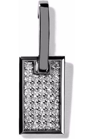 AS29 Kleiner 18kt Tag Schwarzgoldohrring mit Diamanten