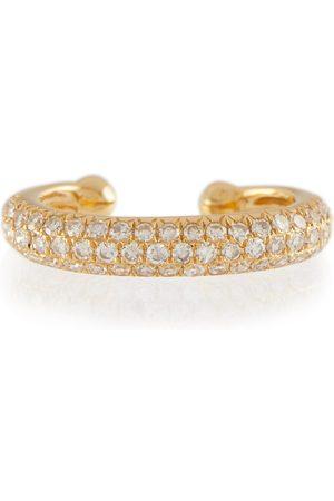 Shay Ear Cuff Jumbo Pavé aus 18kt Gelbgold mit Diamanten