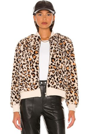 Chaser Animal Faux Fur Bomber in . Size XS, S, M.