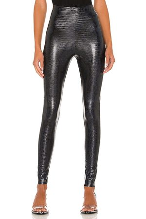 Commando Faux Leather Animal Legging in . Size XS, S.