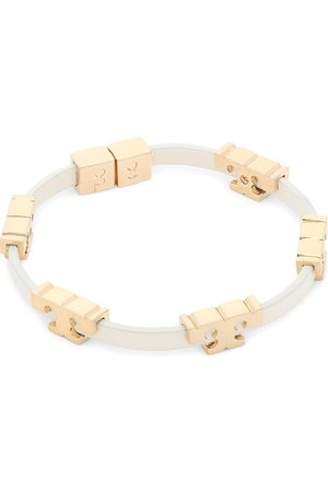 Tory Burch Serif-T Stackable Bracelet 80706 Tory Gold/New Ivory 701