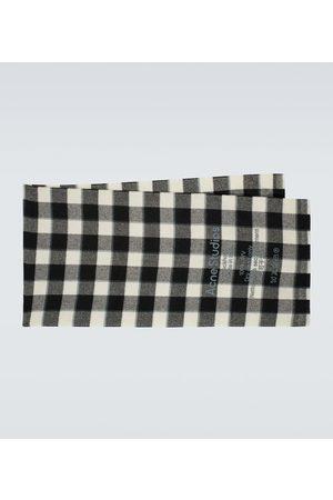 Acne Studios Karierter Schal aus Wolle