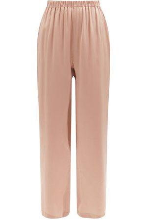 Araks Emman Silk-satin Wide-leg Pyjama Trousers