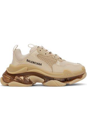 Balenciaga Damen Sneakers - Beige Clear Sole Triple S Sneakers