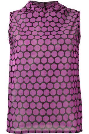 WALTER VAN BEIRENDONCK Damen Tops & T-Shirts - Semi-transparentes Top mit Kapuze