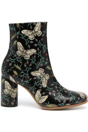 UNDERCOVER Damen Stiefeletten - Stiefeletten mit Schmetterling-Print