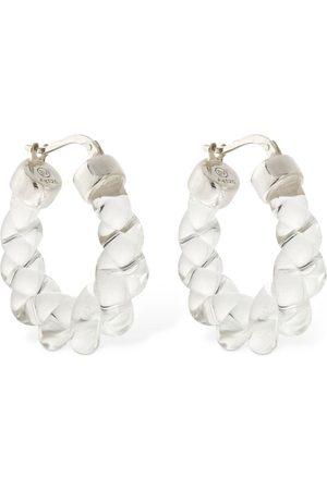 Bottega Veneta Ovale Ohrringe Aus Glas