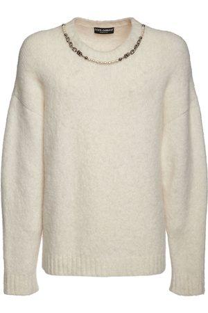 Dolce & Gabbana Strickpullover Aus Alpakamischung Mit Dg-kette