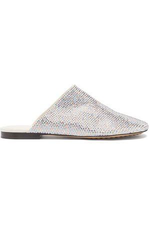 Bottega Veneta Crystal-embellished Suede Backless Loafers