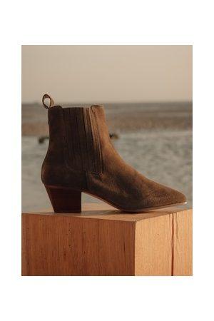 Promod Damen Cowboy & Bikerboots - Westernboots aus Leder