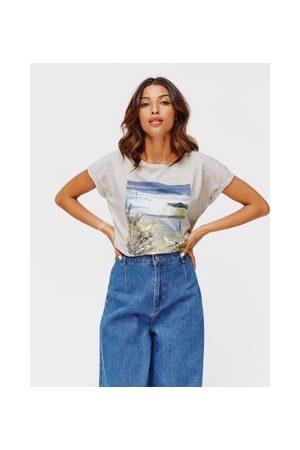 Promod Damen T-Shirts, Polos & Longsleeves - T-Shirt mit Front-Print DIMB