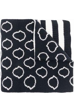 Moncler Intarsien-Schal mit Logo