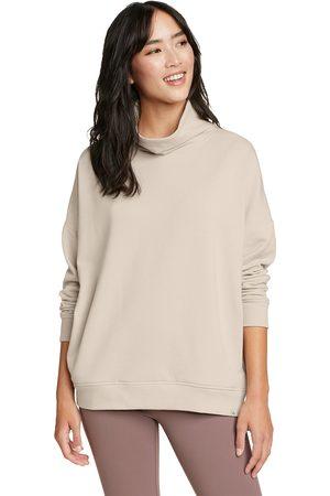 Eddie Bauer Damen Sweatshirts - Cozy Camp Sweatshirt mit Rollkragen Damen Natur Gr. XS