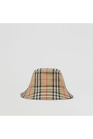 Burberry Hüte - Fischerhut aus technischer Baumwolle mit Vintage Check-Muster, Size: 4Y-6Y