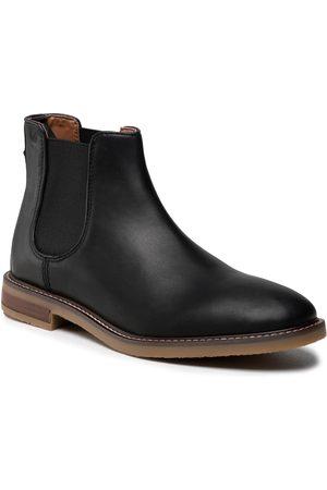 Clarks Herren Chelsea Boots - Jaxen Chelsea 261627297 Black Leather