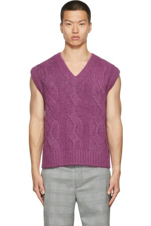 We11 Done Brushed Cable Knit Vest