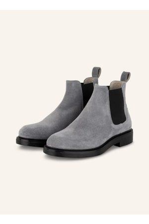 Copenhagen Shoes Herren Chelsea Boots - Veloursleder. Seitliche Stretch-Einsätze. Zuglasche am Schaft. Mandelförmige Vorderkappe. Blockabsatz