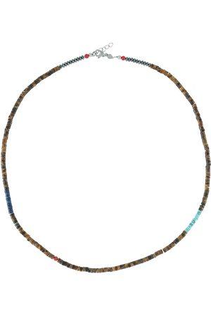 Nialaya Herren Halsketten - Heishi Halskette mit facettierten Perlen