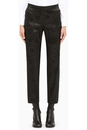 Dries Van Noten Black Poumas regular trousers