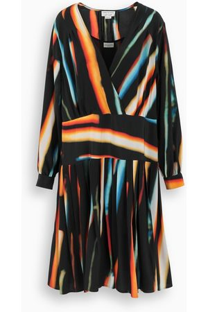DRIES VAN NOTEN Multicolour Dolta flared dress