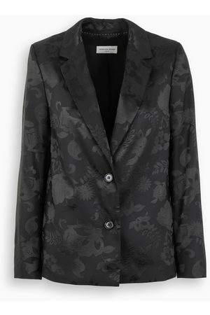 DRIES VAN NOTEN Black embroidered blazer