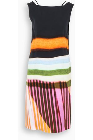 DRIES VAN NOTEN Multicolour stripes Dobson dress