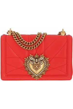 Dolce & Gabbana Crossbody Bags Devotion Bag Medium Matelassè Leather red