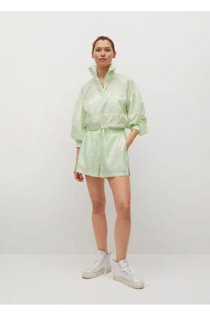MANGO Damen Shirts - Bauchfreies Sport-Sweatshirt