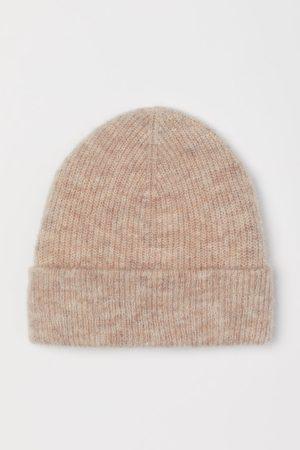 H&M Gerippte Mütze aus Wollmix