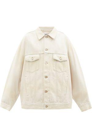 Balenciaga Damen Jeansjacken - Logo-patch Distressed-denim Jacket
