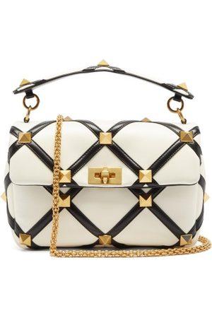 VALENTINO GARAVANI Roman Stud Leather Shoulder Bag