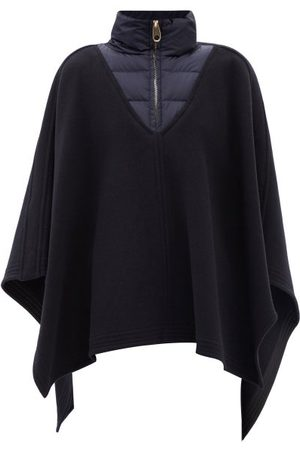 Chloé Quilted-collar Felted Wool-blend Poncho
