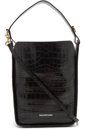 Balenciaga Tool S Crocodile-effect Leather Shoulder Bag