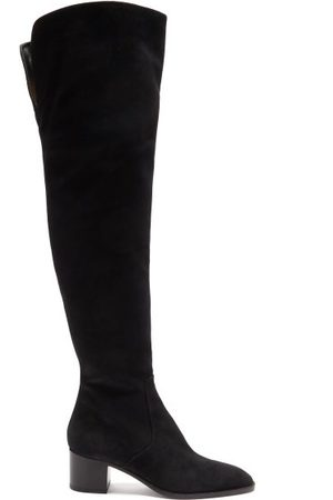 Christian Louboutin Gazellou 55 Suede Over-the-knee Boots