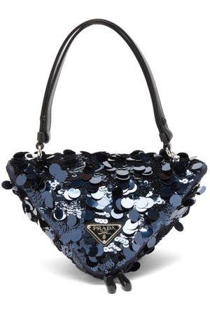 Prada Sequinned Leather Triangle Shoulder Bag