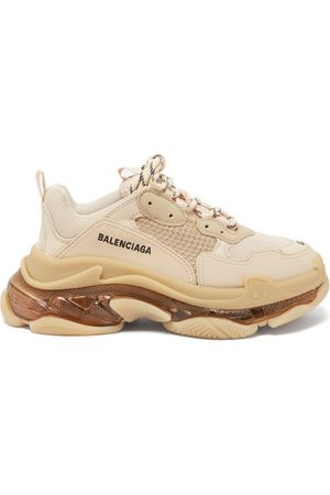 Balenciaga Triple S Faux-leather And Mesh Trainers