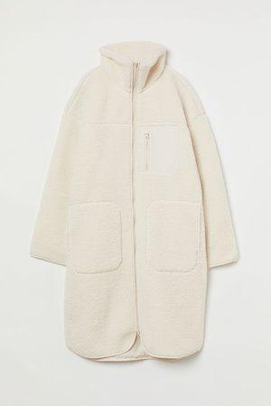 H&M Damen Jacken - Jacke aus Lammfellimitat