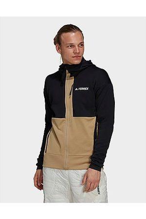 adidas Herren Outdoorjacken - TERREX Tech Fleece Hooded Hiking Fleecejacke