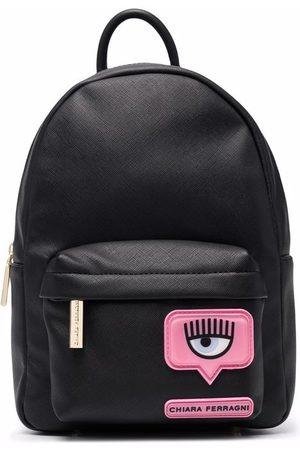 Chiara Ferragni Damen Rucksäcke - Mini Rucksack mit Logo-Patch