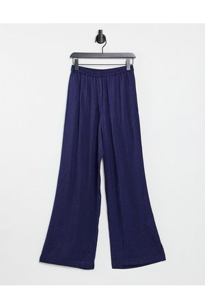 & OTHER STORIES – Jacquard-Hose aus Ecovero in Navy, Kombiteil