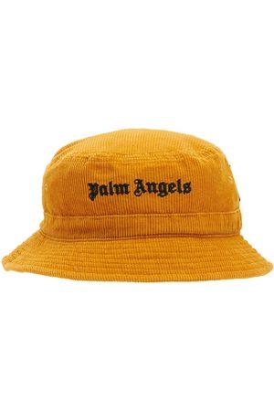 Palm Angels Damen Hüte - Fischerhut Aus Kord Mit Logo