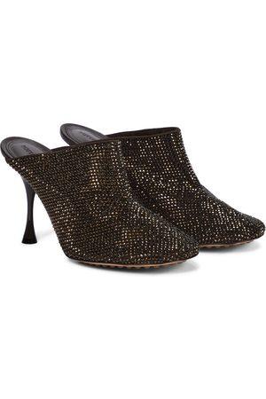 Bottega Veneta Mules Sparkle Dot Sock aus Veloursleder