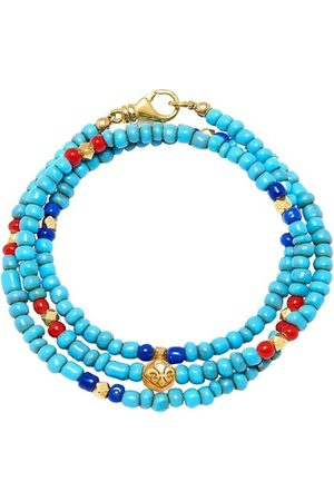 Nialaya The Mykonos Collection - Vintage Turquoise, Red, and Blue Glass Beads , Herren, Größe: L