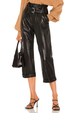 Marissa Webb Dixon Leather Cropped Pant in . Size 2, 4, 6, 8.
