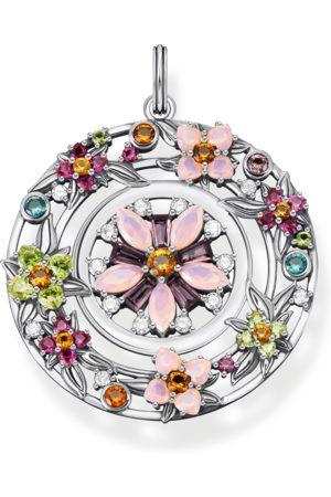Thomas Sabo Damen Anhänger - Anhänger Amulett Blumen farbige Steine silber mehrfarbig